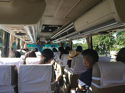 バスの中でGOから説明があります〜