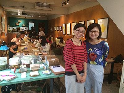 北投のおしゃれB&B「Solo Singer」で日本人女性エディトリアルデザイナー村手さんの個展