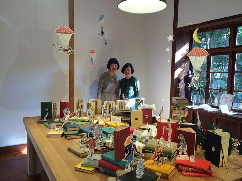 素敵すぎる台北の民間ライブラリー[VVG Chapter]で、イラストレーター・オガワナホさんの展示が開催中