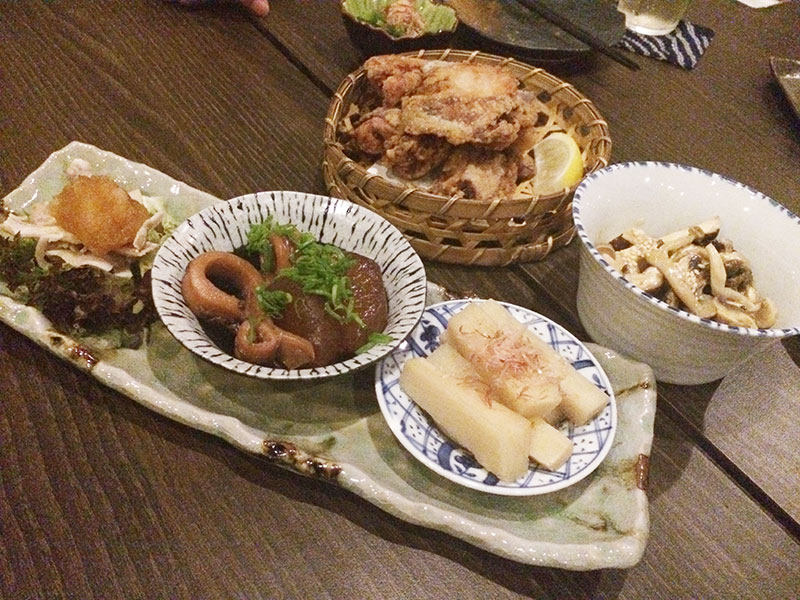 イカと大根の煮物や、山芋などの「これこれ!これが食べたかった!」的な和食ラインナップ