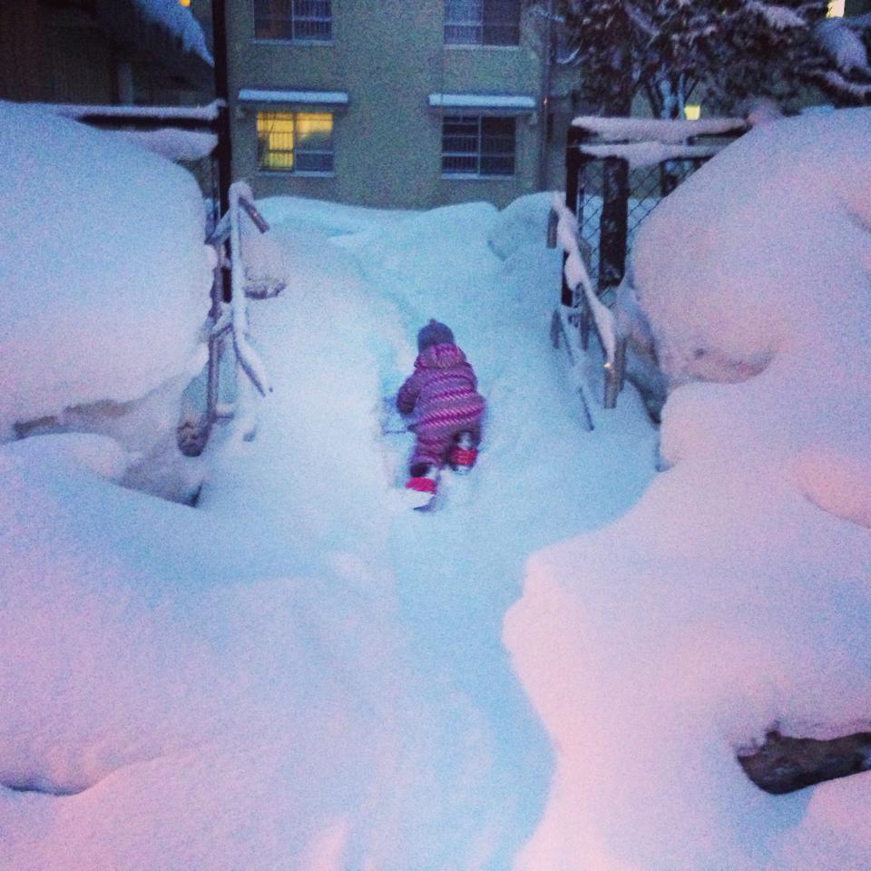 白馬はすごい雪! 白馬村的雪真的好大喔!