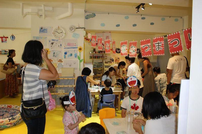 みんなの家,台湾台北,幼稚園,日本語幼児教育,モンテッソーリ,お外遊び,花育,遊び場