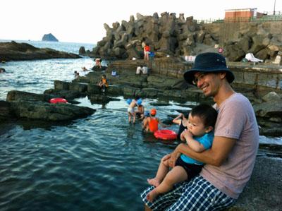 基隆,Keelung,外木山海岸,天然海岸,遊泳場,台湾